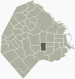 Location of Boedo within Buenos Aires