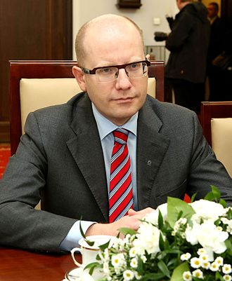 2013 Czech legislative election - Image: Bohuslav Sobotka Senate of Poland 01
