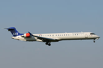 Cimber (airline) - Cimber Bombardier CRJ900 operated for Scandinavian Airlines