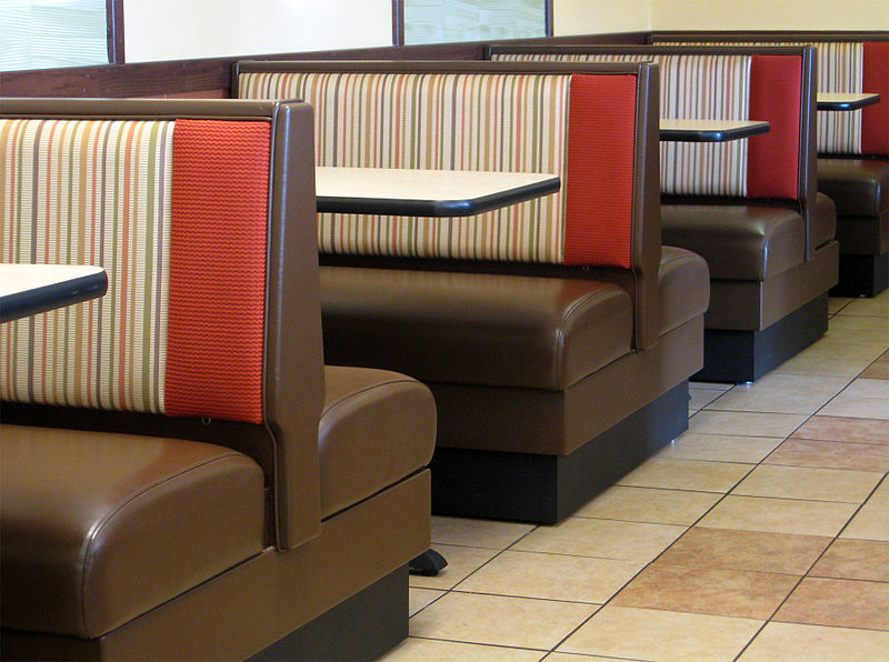 File:Booths at the local Arby's , Lake Cable Ohio.jpg