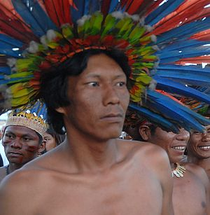 Bororo - Bororo-Boe man from Mato Grosso at Brazil's Indigenous Games, 2007