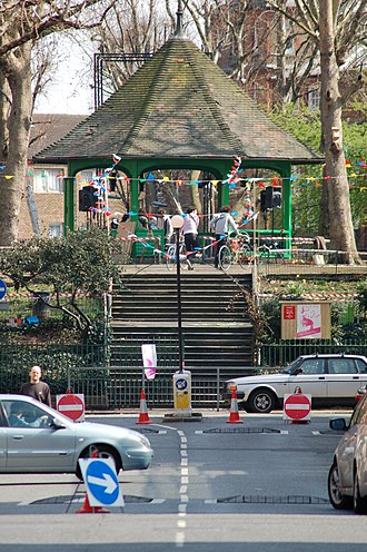 Boundary Estate - The Boundary Estate bandstand at Arnold Circus, built from soil beneath the Old Nichol slum, is the centrepiece of the estate