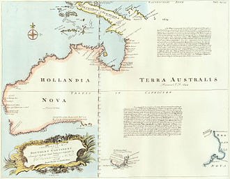 Matthew Flinders - 1744 Chart of Hollandia Nova – Terra Australis.