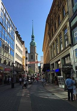 Brückstraße Dortmund Blickrichtung St.Reinoldi