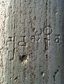 Brahmi Script inscribed on a Railing Pillar at Velpuru 01.jpg