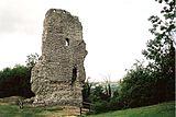 Restaĵoj de Bramber Castle, la origina administra centro de la Seksperforto