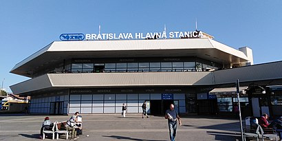 How to get to Bratislava Hlavná Stanica with public transit - About the place