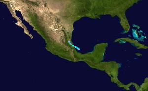 Tropical Storm Bret (2005) - Image: Bret 2005 track