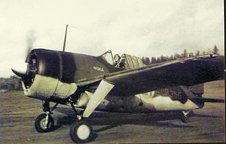 Brewster F2A Buffalo - Finnish company Nokia donated sufficient funds for the FAF to purchase a B-239. In return, NOKA was inscribed on BW-355. Operated by No. 24 Squadron, it was destroyed on 24 October 1944. Future ace Paavo Mellin shot down an I-16 and shared in the destruction of a MiG-3 whilst flying this aircraft.