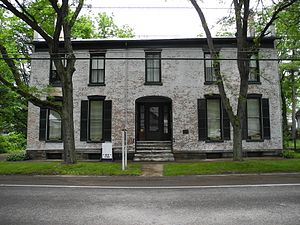 National Register of Historic Places listings in Schuyler County, New York - Image: Brick Tavern, Montour Falls, NY