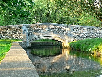 River Wandle - River Wandle at Beddington Park in the London Borough of Sutton