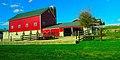Bright Red Barn and Silo - panoramio.jpg