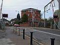 Brimsdown station level crossing look west.JPG