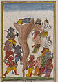 Brooklyn Museum - Krishna Subdues the Serpent Aghasura Page from an unidentified Hindu manuscript.jpg