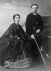 Mary Anne Barker with her husband Frederick Napier Broome, circa 1836