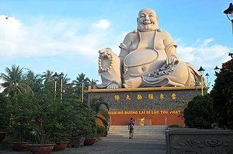 Budai - Bố Đại statue at the Vĩnh Tràng Temple, Vietnam