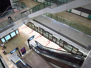 Mass Rapid Transit (Singapore) - Bugis MRT Station of the Downtown MRT Line