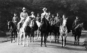 Bergpark Wilhelmshöhe - Emperor Wilhelm II in the Bergpark in 1906