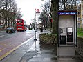 Bus stop and phone on Charlton Road - geograph.org.uk - 2292907.jpg