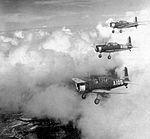 Bush Field - Vultee BT-13s in Three-Ship Formation.jpg