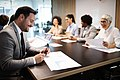 Business-colleagues-having-meeting-in-conference-KS674JC.jpg