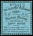 C. 1855 Directors' Message stamp of the Electric Telegraph Company.jpg