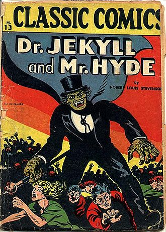 Horror comics - Gilberton Publications' Dr. Jekyll and Mr. Hyde (August 1943), possibly the first full-length comic-book horror story