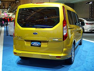 Ford Transit Connect - View of optional rear liftgate (2013 Transit Connect Titanium shown)