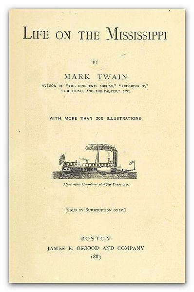 File:CLEMENS, Samuel. L. (alias MARK TWAIN) Life on the Mississippi.jpg