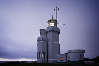 St. Catherine's Lighthouse - The lighthouse, with fog-signal tower attached
