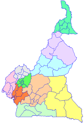 Departments Of Cameroon Wikipedia