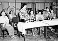 COLLECTIE TROPENMUSEUM In juni 1950 organiseerde de leiding van de KOWANI (Kongres Wanita Indonesia) in Djakarta een congres dat door alle afdelingen in Indonesië werd bijgewoond TMnr 10000217.jpg
