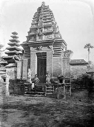 Bali Kingdom - The gate in Gelgel, the old royal capital of Bali.