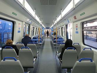CSR EMU (Argentina) - Passengers aboard a Roca Line train.