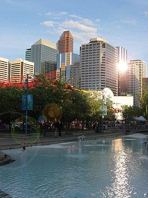 Eau Claire, Calgary - Festival plaza in Eau Claire