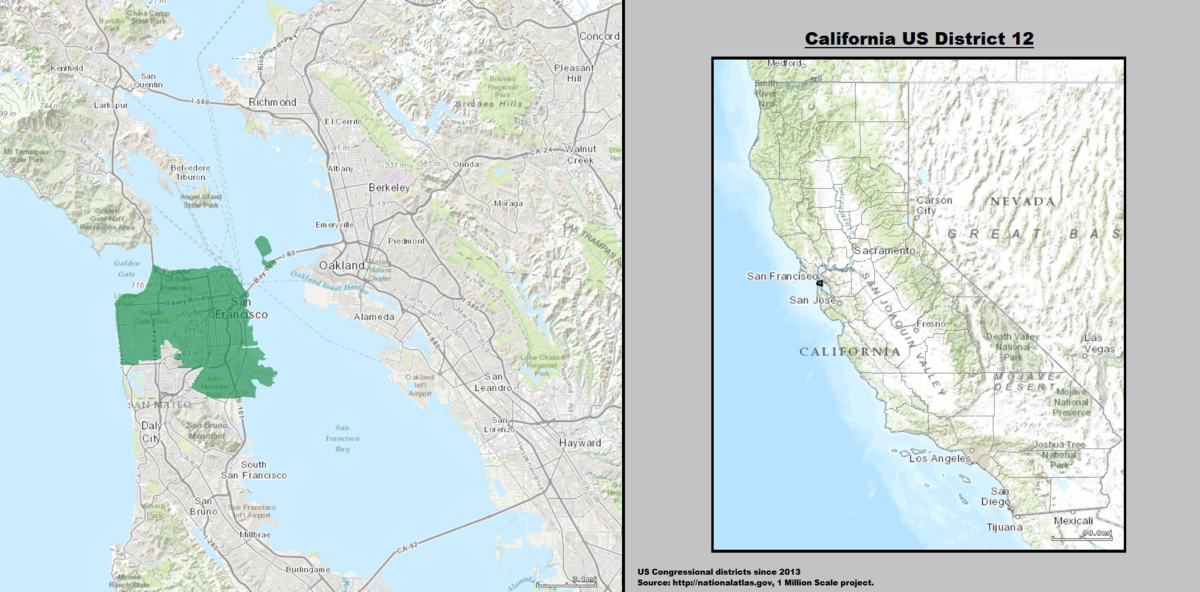 Californias 12th congressional district  Wikipedia