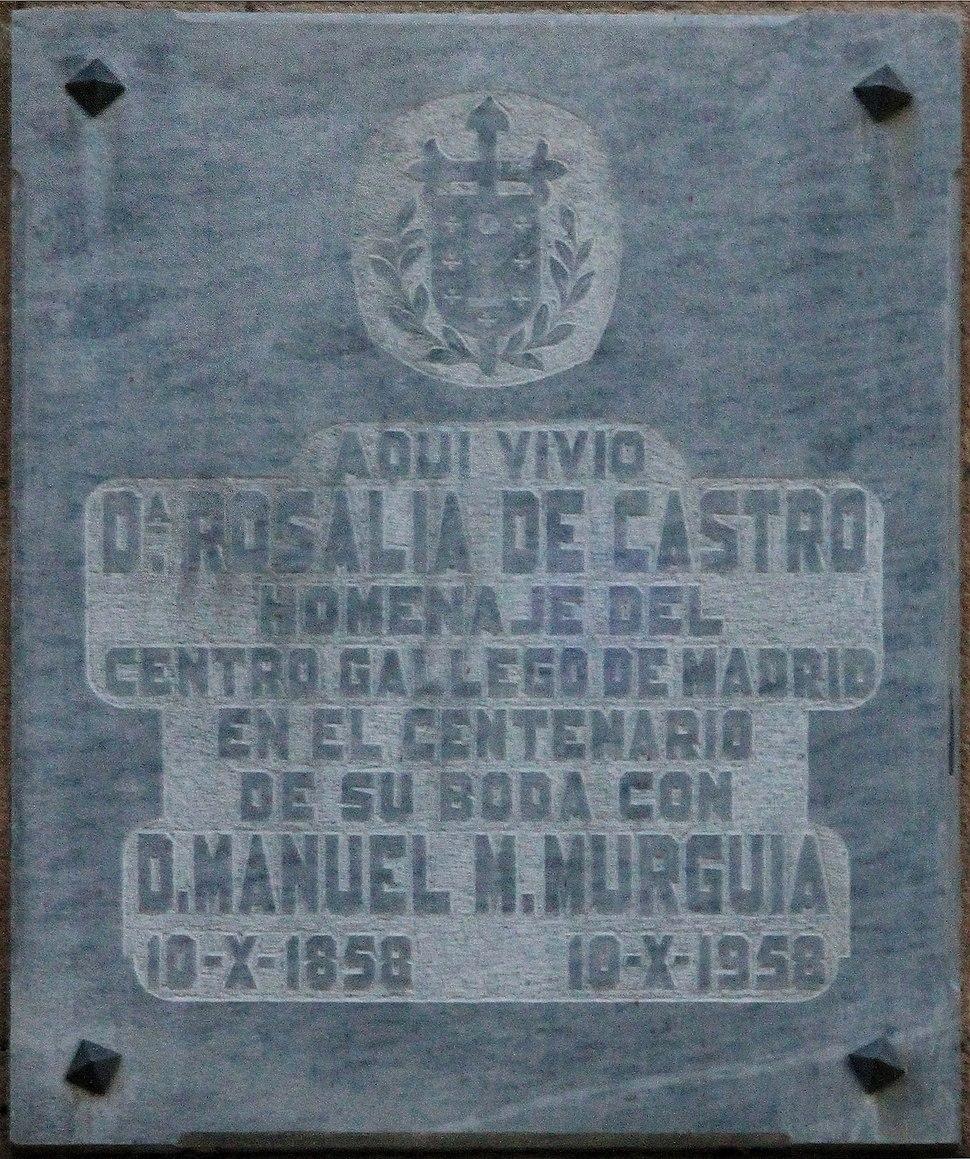 Placa instalada en 1958.