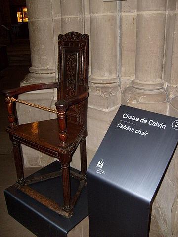 Стул Кальвина в соборе Сен-Пьер в Женеве (Швейцария)