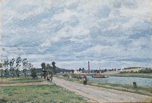 The Banks of the Oise near Pontoise - Image: Camille Pissarro Bords de l´Oise, Pontoise 1873
