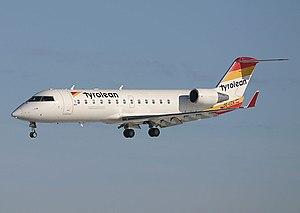 Tyrolean Airways - A former Tyrolean Bombardier CRJ200LR