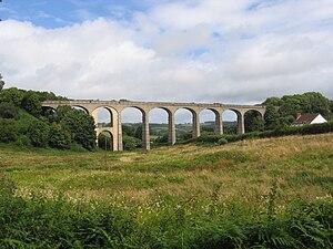 Lyme Regis branch line - Image: Cannington viaduct 010808