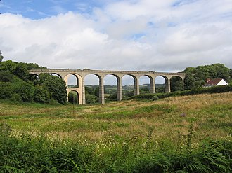 Lyme Regis branch line - Image: Cannington viaduct 010808