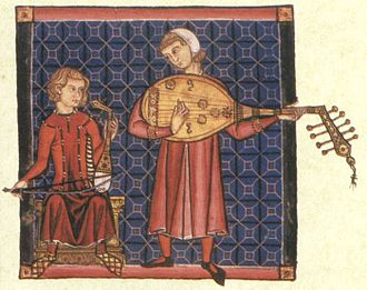 Historically informed performance - Historical images, such as this Galician 13th-century illustration of lutanists, can inform modern performance practice, but must be interpreted with caution
