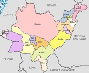 Azuay Province - Image: Cantones de Azuay
