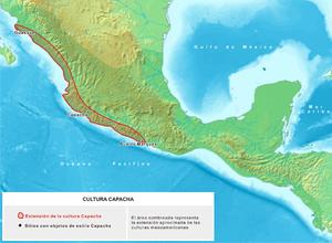 Capacha - Capacha culture extension Map.