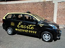 Toyota Avanza used as a Cape Town Taxi Cab in South Africa