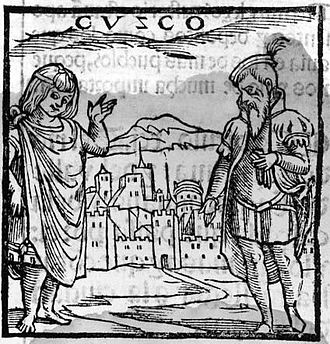 Cusco - The first image of Cusco in Europe. Pedro Cieza de León. Crónica del Perú, 1553.