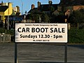 Car boot sale sign, Queen's Parade - geograph.org.uk - 1303229.jpg