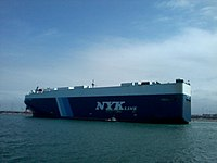 Car carrier RHEA LEADER en mer de Casablanca.jpg