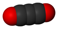 Spacefill model of carbon suboxide